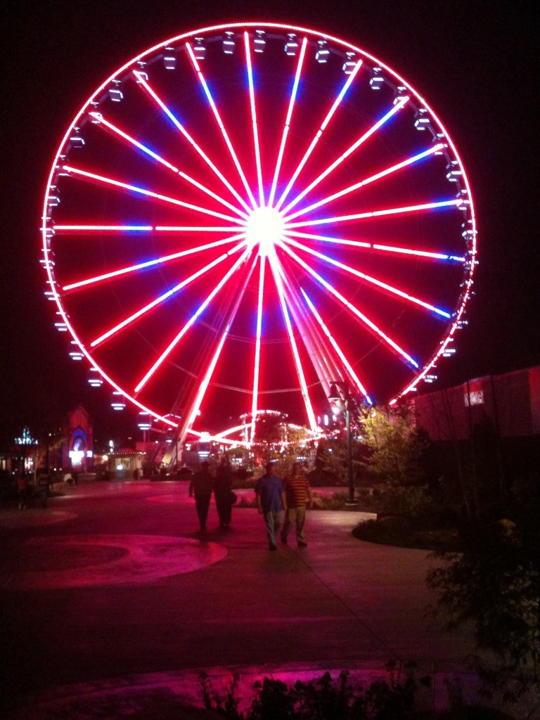 Island in Pigeon Forge Great Smoky Mountain Wheel